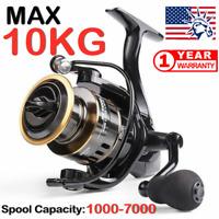 Fishing Reel HE1000-7000 Max Drag 10kg High Speed Metal Spool Spinning Reel USA>
