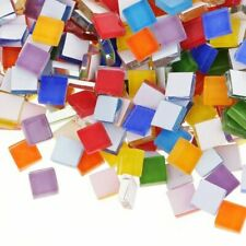 100pcs Craft Tile/Tiles DIY Accessories Mosaic Glass Mixed Color Mirror Supplies