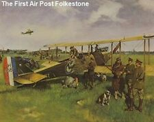 Cuneo Fine Arts - Signed, Air Post in Folkestone - Koln (1919) by Terence Cuneo