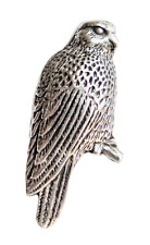 Falcon Pewter Pin Badge - Hand Made in Cornwall