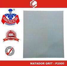Matador Waterproof Sander Paper Grit : P2000