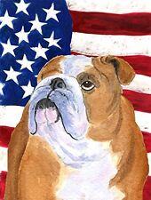 Caroline's Treasures Ss4017Gf Usa American Flag with Bulldog English Flag, Small