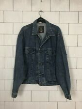 VINTAGE RETRO FESTIVAL BIKER TRUCKER URBAN SHORT DENIM JACKET OVERSIZED #198