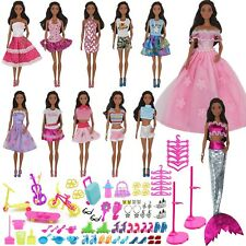 90Pcs Doll Clothes and Accessories for Barbie Dolls Set Contain 10 Di...