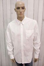 TIMBERLAND Taglia 2XL Camicia Uomo Cotone Shirt Chemise Casual Manica Lunga