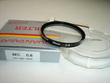 Quantaray 55mm C.S.  filter . (cross screen) CS witn case, box, manual #001757
