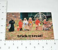 Trick or Treat Vintage Halloween Postcard 80's Costumes 1983 J Gerard Smith