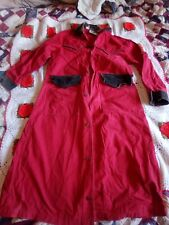 Vintage Cowboy Duster Trenchcoat Size Small Red Broken Spear Cattle Co.