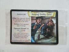 Harry Potter Keeping Dobby Quiet Sealed Promo Trading Card Excellent Wizards