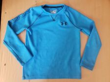 BOYS UNDER ARMOUR BLUE L/S LOOSE FIT ALL SEASON SHIRT SIZE YMED