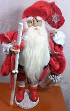 Beautiful Santa Figure in Red free Standing New