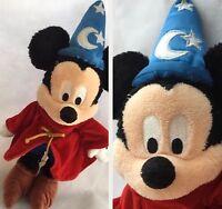 "Disney Parks Mickey Mouse Fantasia Plush Sorcerer Stuffed Animal Soft Toy 14"""