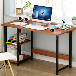 100cm Computer PC Laptop Table Desk & Storage Lower Book Shelf Kid Writing Study