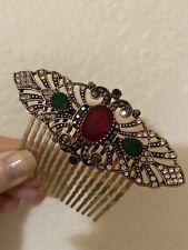 NWNT Vintage Art Deco Jewelled Hair Comb.