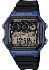 Casio Uhr Digitaluhr AE-1300WH-2AVEF Digital Uhr schwarz blau