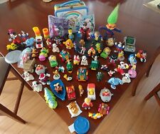 Mixed Lot of 65 Disney, McDonald's & Other Figures and Toys +CB Lunch Bucket