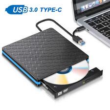 Portable USB 3.0 External CD DVD Type-C Writer Burner Player Drive For PC Laptop