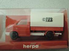 Herpa 042369 VW T4 Pritsche Plane Feuerwehr neutral in OVP aus Sammlung (3)