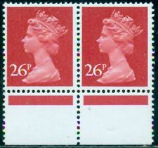 Great Britain Sg-X971 Type 1, Scott # Mh-130 Pair, Mint, Og, Nh, Great Price!