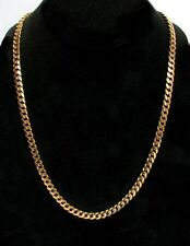 "EXCEPTIONAL 18K ROSE GOLD 23 1/2"" CURB LINK CHAIN"