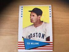 1961 FLEER BASEBALL BOSTON RED SOX TED WILLIAMS CARD 152 Original Owner