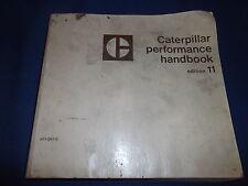 CAT CATERPILLAR PERFORMANCE HANDBOOK 11 MANUAL 1980