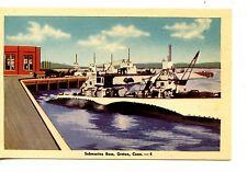 Military Navy Submarine Base-Ship-Groton-Connecticut-Vintage Postcard