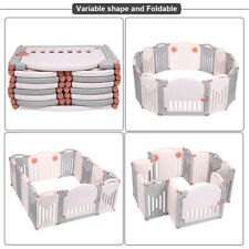 Baby Folding playpen Kids Activity Centre Play Yard Home Indoor Outdoor V2E4