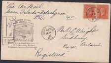 1933, First Flight, Sept Iles Quebec, Scott 200 pair, Lot 6925