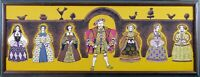 Framed Vintage Print on Canvas, King Henry VIII, Nobles of the Court, Very Rare