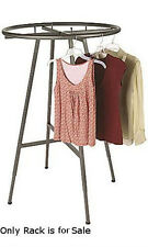 Round Clothing Rack in Raw Steel 48-72H Inches