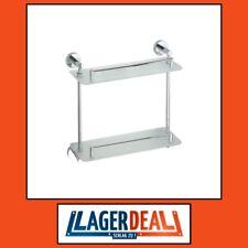 Glasablage 400x400x120mm  Messing / Milchglas Chrom Badartikel Zubehör Lagerdeal