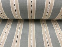Holm Stripe Panama Cotton Duckegg 140cm wide Oslo  Curtain/Craft Fabric