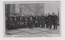 1906 Postcard Labour Group outside House of Commons  Unused