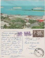 CRUISE SHIPS AT ANCHOR AT NASSAU (BAHAMAS) 1963