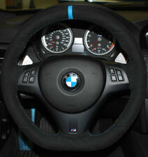 BMW OEM E90 E91 E92 E93 M3 E82 M Performance Steering Wheel Alcantara Blue Strip