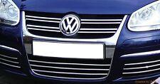 VW GOLF MK V JETTA MK III - CHROME Kit Front Grille Covers 3M Trim Tuning 9 PCS