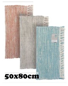 Recycled Twill Hall Chindi Rug Handwoven Eco Friendly Unique Striped Fabric Rug
