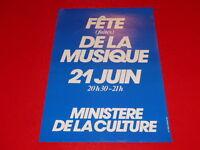 COLL.J. LE BOURHIS AFFICHES 1ère / First  FÊTE DE LA MUSIQUE 1982 Rare!! French