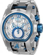 New Mens Invicta Reserve 20112 Magnum Bolt Zeus Swiss 52mm Blue Silver Watch