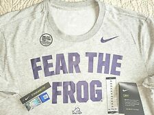 New by Nike, Mens Size Xl,Tcu 'Fear The Frog' Grey Dri-Fit T-Shirt, Msrp $30.00!
