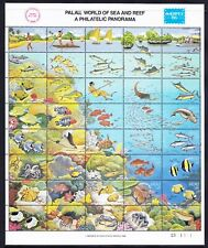 More details for palau 1986 sg102a ameripex '86 reef world - sheetlet of 40 stamps u/m cat £50
