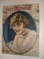 Just Because 1920 Stevens & Frosini Beautiful Girl cover by Mosselman