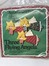 """Yours Truly """"Three Flying Angels"""" Patchwork Ornament Kit Size 7"""" x 4 1/2"""""""