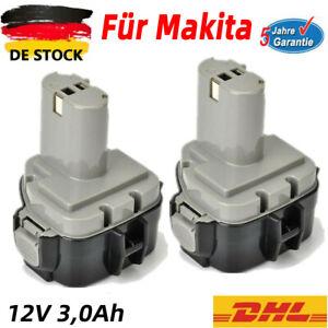 2X Ni-MH AKKU Für Makita 12V 3,0Ah 1220 1222 1233 1234 1235 1235F 192598-2 DE