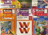 Grade 5 Curriculum 8-Subject Homeschool 5th Workbook Set Homeschooling Bundle