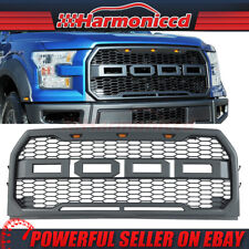 Fits 15-17 Ford F150 Raptor Style Front Bumper Grille Hood Grill Mesh ABS