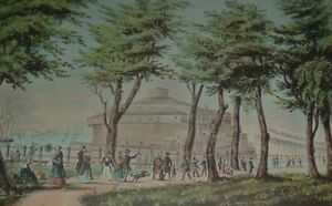 Clinton CASTLE GARDEN NEW YORK FROM THE BATTERY Park New York Currier & Ives