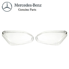 Mercedes-Benz W211 E320 E350 E500 E55 AMG Pair Set of 2 Fog Light Lenses Genuine