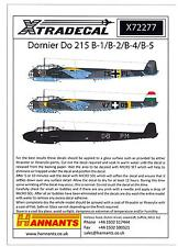 Xtra Decals 1/72 DORINER Do-215B-1 B-2 B-4 or B-5 German WWII Bomber